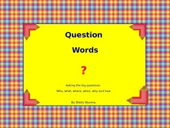Question Word Classroom Signs