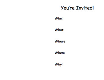 Question Word Invitation