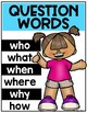 Question Words {Posters for Reading & Asking Questions} Kindergarten and First