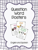 Wh- Question Posters with Spanish Translations
