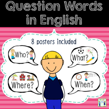 Question Word Posters in Speech Bubbles