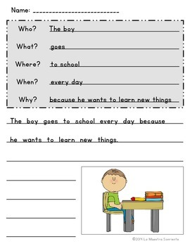 Writing: Sentence Stretching Templates (English)