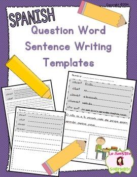 Writing: Sentence Stretching Templates (Spanish)