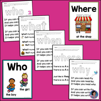 Question Words Pack: Includes Wh- Question Posters and Focus Sheets