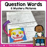 Question Words : 6 mystery pictures - Color by Code