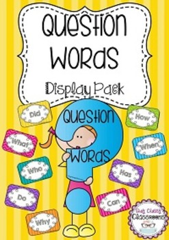 Question Words Display with Question Mark
