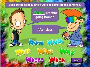 Question Words - EFL / ESL (In class or online class resource)