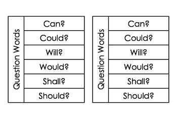 Question Words Flap Books