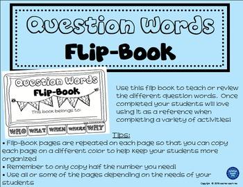 Question Words - Flip-Book