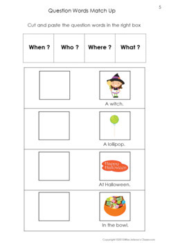 Question Words Matching Set