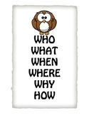Question Words Owl Poster!