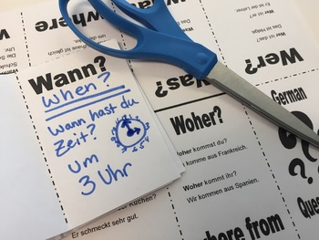Question Words (Part 1) in German - Foldable Mini Booklet