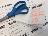 Question Words (Part 2) in German - Foldable Mini Booklet