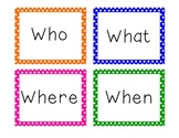 Question Words Polka Dot Border Colorful