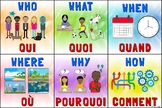Question Words Poster – Bilingual French/English