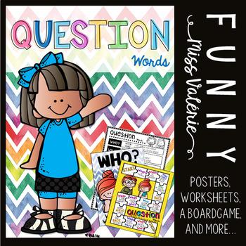 Question Words -  Poster set + Boardgame + Worksheets
