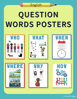Question Words Posters – English