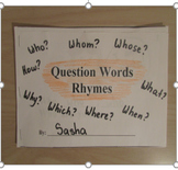 Question Words Rhymes Book
