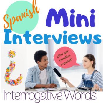 Spanish Interrogatives Speaking Activity Question Words Mini Interviews