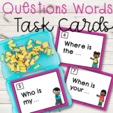 Question Words Task Cards|5'W and H