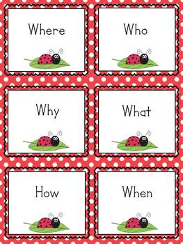 Question Words Who, What, When,Where,Why and How Sorting Game
