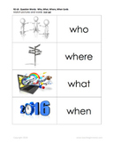 Question Words: Who, What, Where, When Cards