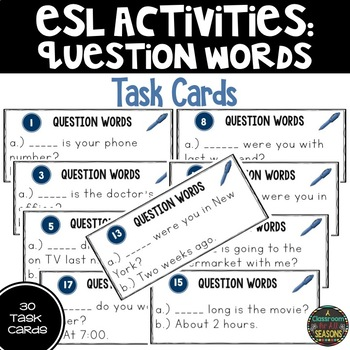 Question Words for ESL