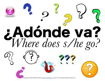 Question Words posters in Spanish