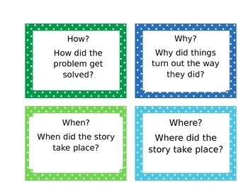Question a Good Story Task Cards