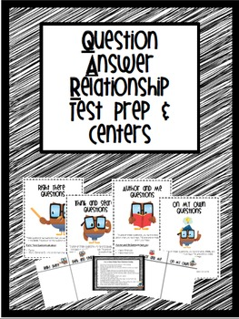 Question and Answer Relationship Test Prep and Centers Pack