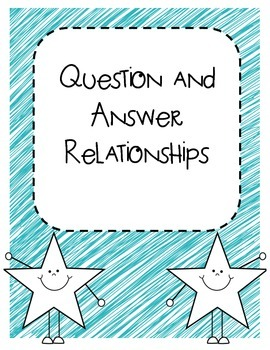 Question and Answer Relationship posters