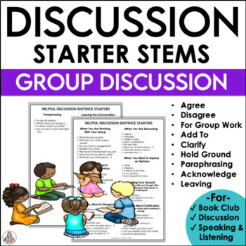 Question and Comment Stems for Discussion and Group Work