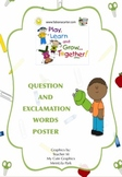 Question and Exclamation Words Poster