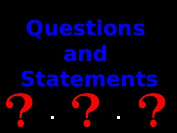 Question and Statement Sentences PowerPoint