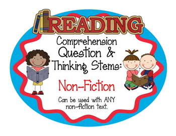 Question and Thinking Stems for Fiction, Non-fiction, Drama, Poetry BUNDLE