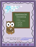 Questions for Counseling- divorce, feelings, coping, socia