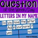 Question of the Day: Letters in my Name