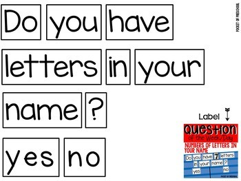 Question of the Day: Number of Letters in your Name