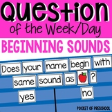 Question of the Day: Beginning Sounds
