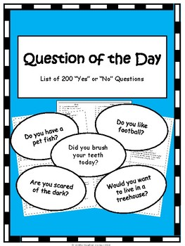 Question of the Day- 200 Questions