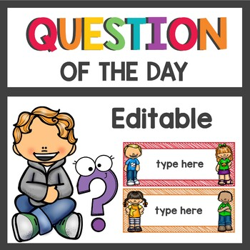 Question of the Day Editable Cards