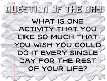 Question of the Day- All About Me Pack
