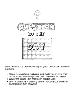 Question of the Day  - Black and White version