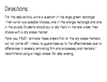 Question of the Day Bulletin Board Set - French