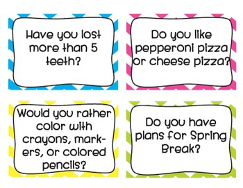 Question of the Day Cards