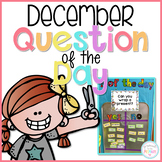 December Question of the Day Cards - EDITABLE