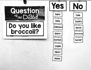 EDITABLE Question of the Day Morning Meeting Activity