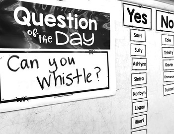 Question of the Day Editable (Morning Meeting Activity)
