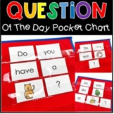 Question of the Day Graphing Pocket Chart Activity For All Year