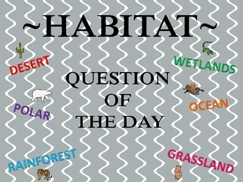 Question of the Day~ Habitats